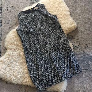 Michael Kors Black and White Sheath Dress